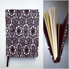 Experimental :)  #notebook #handmade #bookbinding #notes #koronka #pracowniazeszytow #notebooksdesign
