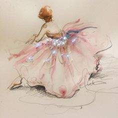 Incorporate beads with your embroidery!  Beautiful artwork by @Katie Hrubec Rodgers   Paper Fashion