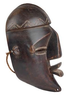 Lualwa, Democratic Republic of Congo, Angola: A 'classic' mask of the Lualwa, called 'Nkaki'.