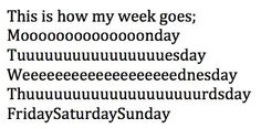 Quote with picture about This is how my week goes on SayingImages.com