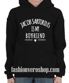 jacob sartorius is my boyfriend hoodie Black