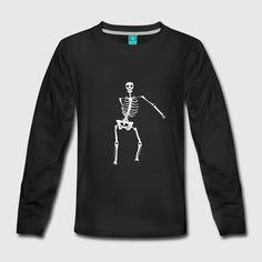 Swish Swish dance move Skeleton - Long Sleeve