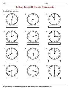 Worksheets Telling Time To The Half Hour Worksheets telling time to nearest half hour worksheet math pinterest the quarter worksheets worksheetsdirect com