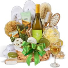 She deserves to be pampered, and our Premium Spa Wine Gift Basket is the gift that will spoil her and then some!