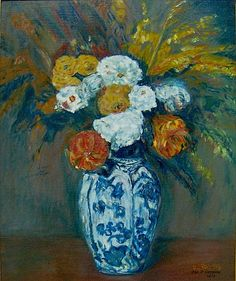 Paul Cezanne: Vase of flowers