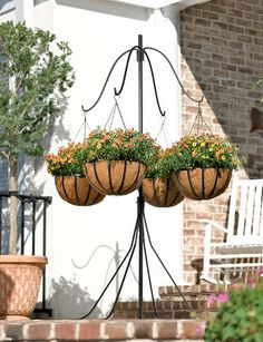1000 Images About Hanging Basket Stands On Pinterest