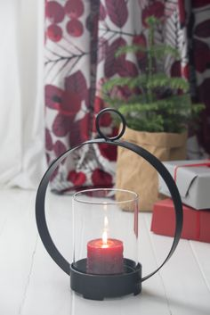 Vanne Lantern |  Pentik Christmas 2017 | Vanne (Hoop) lantern is 30x36 cm in size and comes with 2 hooks that help you hang it.