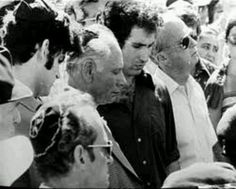 B. Netanyahu & his Father at funeral of his brother, also an IDF commando, following his death during the raid on Entebbe (Uganda) airport to rescue hostages. Loosing Someone, Israel, Pillar Of Fire, Benjamin Netanyahu, Real Hero, American Presidents, To Loose, Uganda, Funeral