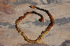 Baby Teething Baltic Rainbow Amber Necklace by MyZenBaby on Etsy, $17.00