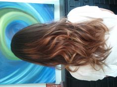 After, with pretty ombre hair color!