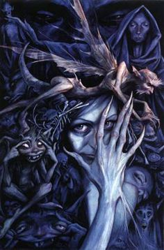 This week's Flashback Friday: Good Faeries, Bad Faeries by Brian Froud. My first exposure to the land of Brian Froud was through the films The Dark Crystal Brian Froud, Dark Fantasy, Fantasy World, Magical Creatures, Fantasy Creatures, Woodland Creatures, Ghost Hauntings, Celtic Mythology, Greek Mythology