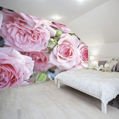 Pink Rose Garden Wall Mural