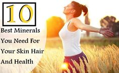 For glowing skin and beautiful hair external care of your skin and hair will not suffice if your body lacks nutrients that are essential for the healthy Health And Wellness, Health Care, Health Vitamins, Glowing Skin, Beauty Skin, Your Skin, Minerals, Skin Care, Healthy