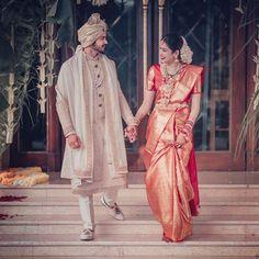 South Indian Couple Portraits That You Must Take Inspiration From! Indian Wedding Poses, Wedding Dresses Men Indian, Indian Wedding Couple Photography, Indian Bridal Fashion, Tamil Wedding, Wedding Sarees, Punjabi Wedding, Indian Weddings, Romantic Weddings