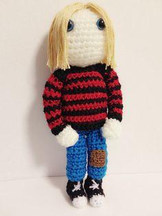 Kurt Cobain amigurumi www.etsy.com/es/shop/amigurockers