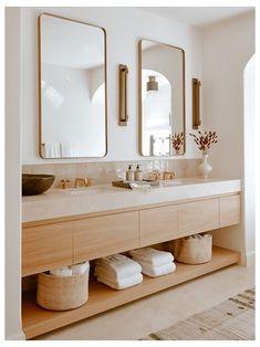 Minimalist Bathroom Design, Bathroom Interior Design, Kitchen Interior, Minimalist Bathroom Inspiration, Scandinavian Bathroom Design Ideas, Bathroom Trends, Bathroom Ideas, Bathroom Plants, Bathroom Renovations