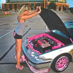 I.n.d.e.p.e.n.d.e.n.t. Haha no this is cool this girl works on her own car and the. Models with them too