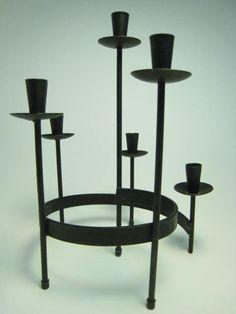 Mid Century Modern Bo Svensk Scandanavian Design Candelabra with Candles by ModernMorning at https://www.etsy.com/listing/199159689/mid-century-modern-bo-svensk