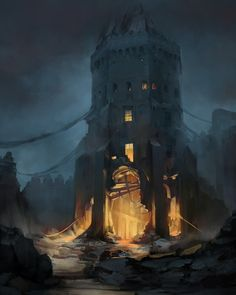 Fire Tower, Pawel Hordyniak on ArtStation at https://www.artstation.com/artwork/Ed420