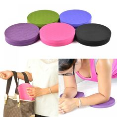 Portable Small Round Knee Pad Yoga Mats Fitness Sport Pad Plank Gym Disc Protective Pad Cushion Non Slip TPE Mat 25 Brand pad / Setitem:knee protective yoga matsPE Mat:Fitness yoga padfeature:Portable Small Roundcushion:F Yoga Pad, Yoga Supplies, Red Blue Green, Eco Green, Yoga Fitness, Fitness Sport, Fitness Gear, Workout Gear, Color