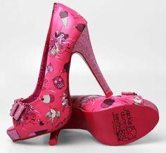 Iron Fist Demon Donkey Pink Sparkle Platform heel......... MUST HAVES