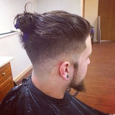 Instagram media by dopesickdevil - #manBun #undercut #topknot #fade #barber…