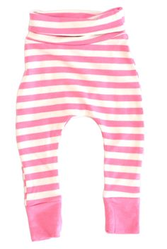 Babies Bamboo Skinnies, Pink Stripe