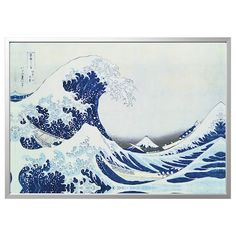 Global Gallery 'The Great Wave of Kanagawa' by Hokusai Framed Painting Print Size: H x W x D Painting Frames, Painting Prints, Paintings, Artist Van Gogh, Sunrise Landscape, Decoration Stickers, Japanese Waves, Japanese Art, Canvas Painting Landscape