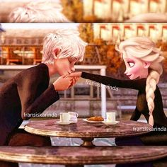 Jack Frost, the professional player, is challenged to hook up the nerdy Elsa Winter. Elsa Y Jack Frost, Jack And Elsa, Disney Princess Frozen, Elsa Frozen, Disney Couples, Disney Love, Princesse Disney Swag, Images Disney, Modern Disney Characters