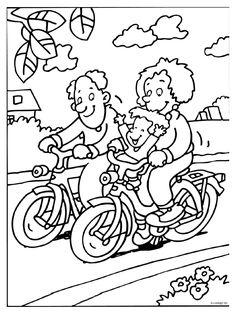 Familie - Fietsen - Knutselpagina.nl - knutselen, knutselen en nog eens knutselen.