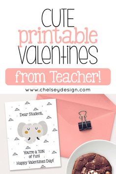 The Cute Printable Valentines from Teacher are an easy and cute option for Valentine's Day! These cute Valentines are so easy and perfect for any student! Teacher Valentine, Valentines Day, Dear Students, Goal Planning, Letter Size Paper, Deer, Printer, Pdf, Place Card Holders