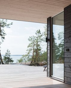 Summer house with a sea view in Porvoo, Finland. Haus Am See, Summer Cabins, House Yard, Natural Homes, Cottage Interiors, Cabins In The Woods, Home Reno, Black House, My Dream Home
