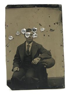 Bettina Speckner - Brooch, Ferrotype, silver, gold, diamonds | Sienna Gallery Sienna Gallery