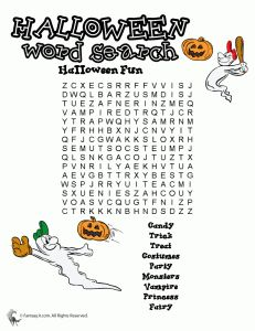 halloween word puzzles 2 231x300 Halloween Word Search Printables