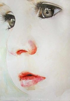 Watercolor baby painting posted by Blue schatten on Bilder Land blogspot
