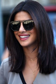Brunette bombshell Priyanka Chopra has such a gorgeous deep brown hue, to inspire anyone's next trip to the salon.