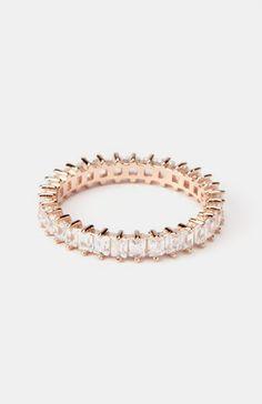 Rose Gold Single Strand Eternity Ring
