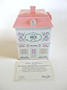 Rice Canister Porcelain Lenox Village Giftware New In Original Gift Box Lenox Village, Canisters, Decorative Boxes, Porcelain, Rice, Santa, The Originals, Gifts, Ebay