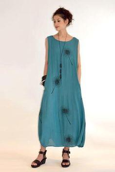 Kauai Dress in Capri Print Crinkle