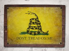 Vintage Gadsden Dont Tread on Me flag mounted print by RusticPost