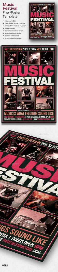 Music Festival Flyer Template — Photoshop PSD #music festival #jazz • Available here → https://graphicriver.net/item/music-festival-flyer-template/18874532?ref=pxcr