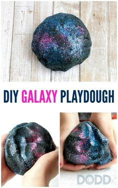If your kids love space and space-themed crafts and activities, they will love making and playing with this easy DIY galaxy playdough recipe. Diy Crafts For Kids, Projects For Kids, Crafts To Do, Outer Space Crafts For Kids, Diy Projects, Vbs Crafts, Kids Diy, Creative Crafts, Craft Ideas