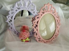 Shabby chic PRINCESS mirror or glass by bellasattictreasures, $55.00