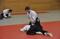 Aikido Lehrgang des österreichischen Aikidoverbands im Budokan Wels, Mai 2015 - Sankyo Fixierung