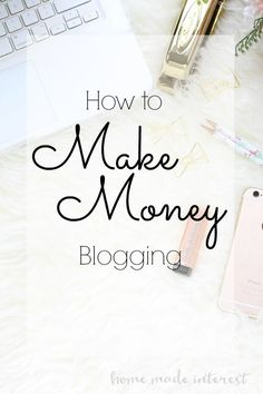 A simple guide on how you can make money blogging. How to monetize your blog with ad networks, sponsored posts, and affiliate links.