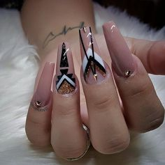 The Best Nail Art 2018 Designs & Ideas - style you 7 Nude Nails, Stiletto Nails, My Nails, Coffin Nails, Nail Swag, Gel Nagel Design, Exotic Nails, Luxury Nails, Best Acrylic Nails