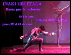Iñaki Urlezaga y el ballet federal se presentaran en San juan 22, 23 y 24 de mayo, en el Estadio Cerrado Aldo Cantoni.