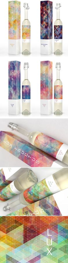 lux fructus wine concept packaging