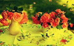 Imagini ,miscatoare,Gifuri,cu sclipici,stralucesc,blog,informatii,urari,mesaje,felicitari zi nastere: Dimineata fascinanta /Flori si Fluturi
