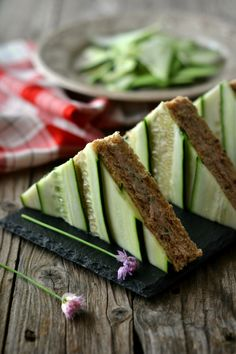 Cucumber Sandwich with Tuna & Chives